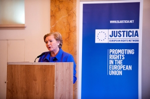 Ms. Frances Fitzgerald T.D., Minister for Justice and Equality launching the Conference. The Ministers speech is available at http://www.justice.ie/en/JELR/Pages/SP14000323at