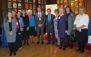 Member of the VRA with the Lord Mayor of Dublin and the Minister for Justice & Defense at the launch of the Victims Rights Alliance, 14th November 2014
