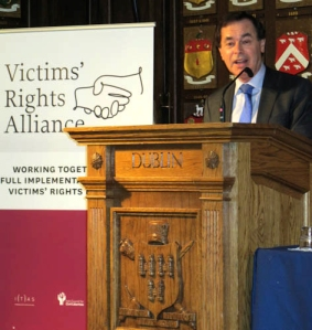 Minister for Justice & Defense, Alan Shatter TD, launching the VRA