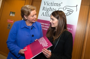 Ms. Frances Fitzgerald T.D., Minister for Justice and Equality, with Maria McDonald BL, the author of the VRA Report - 14th November 2014